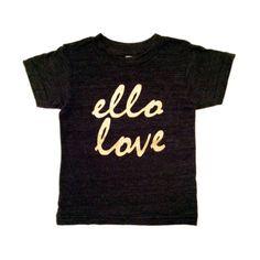 Ello Love Black & Gold Tee – kate&jAMES Shop