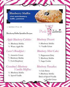 Blueberry Muffin Pink Zebra Sprinkles