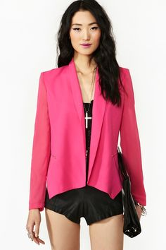 Boss Lady Blazer in Hot Pink ~ probably with a skirt or slacks, though E*