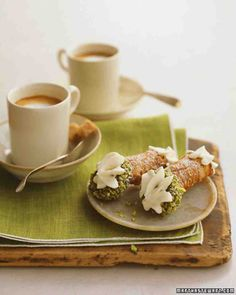 Classic Cannoli recipe from Martha Stewart. Can't wait to try this.