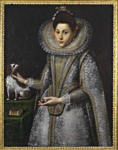 Fontana Lavinia , Ritratto di gentildonna con cane