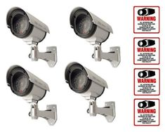 4 VAS #4304 Outdoor IR Dummy Camera Blinking LED W (4) #204 Decal by VAS First Response. $75.25. Product Description: #4304 Now you can deter robbery, theft, and vandalism without the high cost of a real outdoor security camera. When placed outside your home or business, even the most sophisticated criminals will think the premises is guarded by a high-tech surveillance system and go in search of an easier target. In fact, this is an actual surveillance camera in outdoor h...