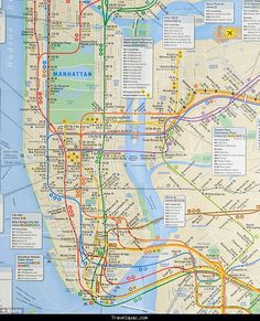 cool Map of New York Metro Tourist