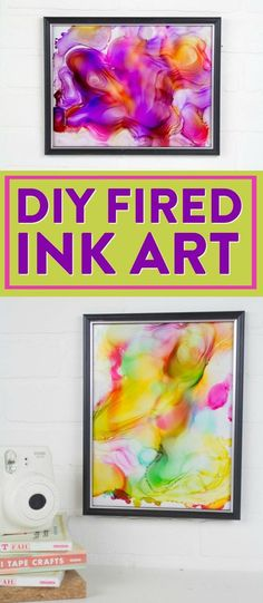 We're making DIY Fired Ink Art and you'll be blown away at how cool these turn out. I had no idea what I was doing and they ended up being beautiful! Diy Projects For School, Art Projects For Teens, Diy Art Projects, House Projects, Diy Crafts For Teen Girls, Diy For Teens, Diy For Kids, Clay Stamps, Cool Wall Art