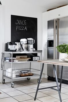Coffee cart by the door / serving cart alwaya ready