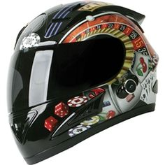 For the gambler.. poker motorcycle helmet