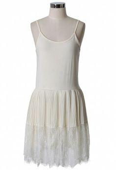 Off White Eyelash Lace Dress