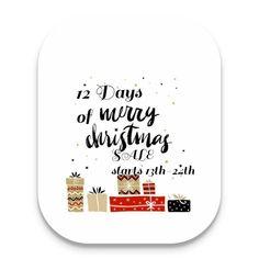 Flymeawaycreations.com 12 Days Of Christmas, Christmas Sale, Merry, Social Media, Social Networks, Social Media Tips
