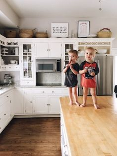 Above cabinets