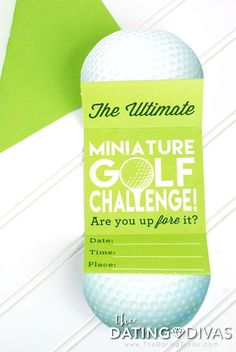 Mini Golf Date Night Idea- this is SO fun! From The Dating Divas- they have the best, creative dates when you're tired of dinner and a movie. Date Night Ideas For Married Couples, Romantic Date Night Ideas, Romantic Dates, Romantic Gifts, Romantic Surprise, Golf Party Games, Golf Card Game, Dubai Golf, Miniature Golf