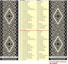34 tarjetas, 2 colores, repite cada 32 movimientos // sed_690 diseñado en GTT༺❁