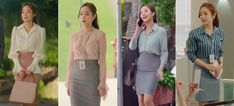 What's Wrong with Secretary Kim - Outfit - Women in Uniform Office Outfits Women, Office Fashion Women, Girl Fashion, Fashion Outfits, Korean Fashion Work, Korea Fashion, Secretary Outfits, Office Looks, Business Outfits
