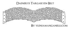 Daenerys Targaryen BELT PATTERN (Qarth Dress) Tutorial and HQ images: http://princess-and-dragon.blogspot.it/2013/08/daenerys-targaryen-cosplay-costume.html