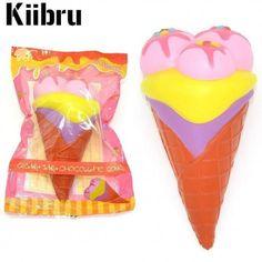 squishy jumbo gelato rosa giallo dessert kawaii kiibru
