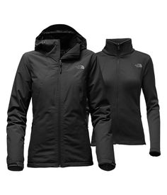 WOMEN'S HIGHANDDRY TRICLIMATE® JACKET | TNF BLACK | Don't get caught high and dry on your next outdoor adventure, take this 3-in-1 jacket system along for the ride. Pair the waterproof, lightly insulated hooded shell with the zip-in midweight fleece liner jacket for versatile coverage in wet, cold conditions. | $260.00