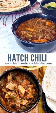 Hatch Green Chili Recipe, Pork Chili Recipe, Green Chili Recipes, Pork Recipes, Mexican Food Recipes, Cooking Recipes, Chile Recipe, Pork Green Chili Recipe Colorado, Spanish Food Recipes