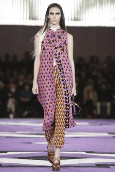 Fall 2012. Prada. Graphic on Graphic, Purposeful Embellishment, Layering.