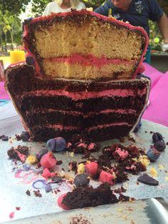 Inside my topsy turvy cake