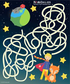 Daily10 The Little Prince Maze for children aged 8-12! --- Find more activities, games and fun for kids at www.kidsdailies.com/