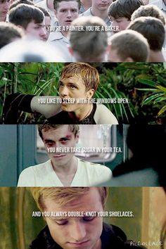 Josh Hutcherson as Peeta Mellark The Hunger Games,Catching Fire, Mockingjay Pt1 & Mockingjay Pt2