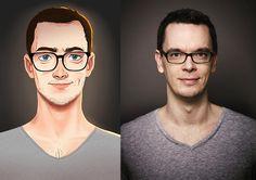 """El ilustrador brasileño Julio César, aka mz09art, se basa en fotografías de gente al azar para crear diferentes retratos que se distinguen por sus colores vibrantes y líneas sutiles. y al mismo tiempo, son tan realistas que parece como si sus personajes están a punto de """"saltar"""" a la vida"""
