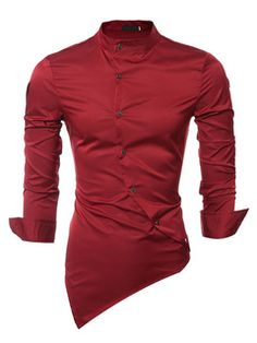Cheap fitted dress shirts men, Buy Quality slim fit dress shirt directly from China dress shirt men Suppliers: Men Shirt Luxury Brand 2017 Male Long Sleeve Shirts Casual Mens Personality Oblique Single-Breasted Slim Fit Dress Shirts Mens Slim Fit Dress Shirts, Slim Fit Dresses, Fitted Dress Shirts, Work Dresses, Club Dresses, New Mens Fashion, Mens Fashion Suits, Urban Fashion, Men's Fashion