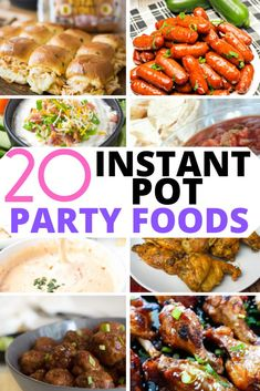 This collection of Instant Pot Party Food Recipes includes some of the best appetizers, finger foods, and crowd pleasing favorites to make your next party a hit! We have everything from dips to sandwiches to help with ideas for your next gathering. #instantpotrecipes #instapot #instantpot #easyinstantpotrecipes #partyfoods #appetizers #pressurecooker #footballfood