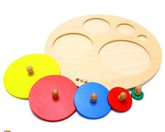 candice guo! Montessori AIDS early development educational wooden toys circular panel catching board