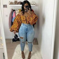 Thick Girls Outfits, Curvy Girl Outfits, Cute Outfits, Stylish Outfits, African Wear, African Attire, African Dress, African Women, African Style