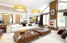 Проект дома «Парковая резиденция 2» представительского класса, напиминает стиль строения французских и американских пригородных резиденций Villa, Couch, Living Room, Interior Design, Furniture, Home Decor, Twitter, Nest Design, Settee