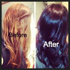 Before after I love it. Not one color! I put a dark brown, red, and purple together #hairstylist
