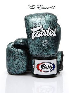 Fairtex New Emerald Boxing Gloves Limited Edition Genuine Leather
