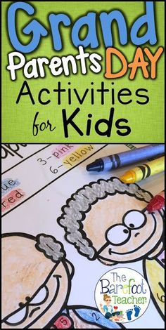 Check out these adorable Grandparents Day activities for your Preschool, Kindergarten, and even First Grade students. They'll go perfect with the other arts and crafts you have planned for your students. Included are Love Notes, Color-by-Number, phonics w Grandparents Day Preschool, Grandparents Day Cards, Math Activities For Kids, Preschool Activities, Thanksgiving Activities, Thing 1, Kindergarten Classroom, Kindergarten Crafts, Classroom Ideas