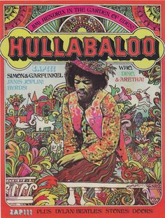 Hendrix on the cover of Hullabaloo magazine, 1968.