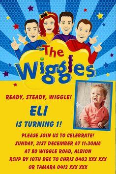 Wiggles Invitation / The Wiggles Birthday / Wiggles Birthday