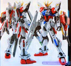 GUNDAM GUY: MG 1/100 GAT-X105B/ST Star Build Strike Gundam - Custom Build