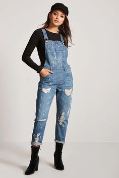 Product Name:Distressed Denim Overalls, Category:dress, Price:34.9