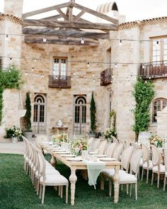 Sunstone Villa sets a romantic backdrop for this courtyard reception. See all of the wedding magic on SMP. | Photography: @josevilla | Event Planning: @joyproctor | Floral Design: @kellykaufmandesign | Hair + Makeup: @teamhairandmakeup | Venue: @SunstoneWinery | Invitations: @writtenwordcalligraphy | Catering: @duocatering | Rentals: The Tent Merchant