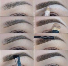 Make Up; Make Up Looks; Make Up Augen; Make Up Prom;Make Up Face; Eyebrow Makeup Tips, Skin Makeup, Makeup Brushes, Makeup Eyebrows, Eyebrow Brush, Eyebrow Growth, Mac Makeup, Eyebrow Sculpting, Eyebrow Pencil
