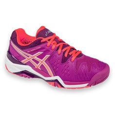 6c9c258055f Asics Women s Gel Resolution 6 Berry Coral Plum Synthetic Leather Mesh  Tennis Shoes