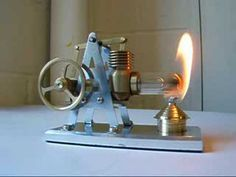 ▶ new Stirling hot air engine from Maidstone Engineering - YouTube