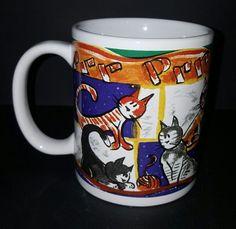 Artistic Cats Prr Prr Meoww Coffee Mug Cup 12 Oz