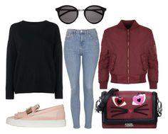 rjsujbf by kata-szabo on Polyvore featuring polyvore fashion style Frame Denim WearAll Topshop Giuseppe Zanotti Karl Lagerfeld Yves Saint Laurent clothing