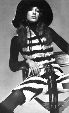 Marisa Berenson photographed by David Bailey for Vogue Italia, 1970.