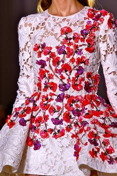 Giambattista Valli Spring 2014 Couture collection floral details