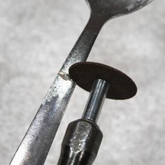 How to use a dremel to create silverware jewelry