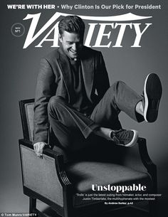 Justin Timberlake Covers Variety Magazine, Talks New Music Variety Magazine, Now Magazine, Male Magazine, Magazine Covers, My Love Justin Timberlake, Cant Stop The Feeling, The Fashionisto, Hollywood Life, Hollywood Stars