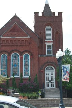 The Presbyterian church in Downtown Franklin at 5 points with its beautiful antique stained glass Tiffany windows.  Whish I knew the complete history.