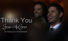 A big Thank You for this last 10 years of great television. I learned that family it's the most important thing in this world and it doesn't end with blood. #SPNfamily