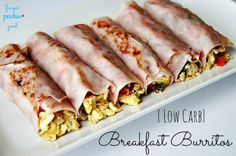 {lLow Carb} {Diabetic Friendly} Breakfast Burritos